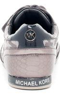 Michael Kors Logo Metallic Sneaker - Lyst
