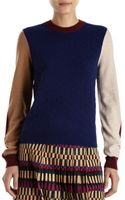 Kenzo Cashmere Colorblock Sweater - Lyst