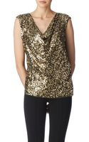 Michael by Michael Kors Draped Sequinned Top - Lyst