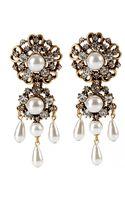Oscar de la Renta Baroque Drop Earrings - Lyst