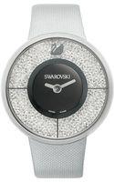 Swarovski Womens Swiss Crystalline Silver Tone Structured Fabric Strap 40mm - Lyst