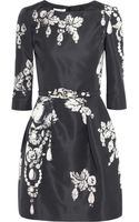 Oscar de la Renta Printed Silk-Faille Dress - Lyst