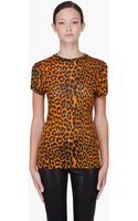 Christopher Kane Orange Leopard Print Tshirt - Lyst