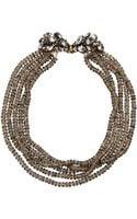 Erickson Beamon Grey Crystal Multistrand Rondelle Necklace - Lyst