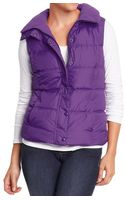Old Navy Quilted Frost free Vests - Lyst