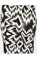 Topshop Crazy Ikat Mini Skirt - Lyst