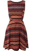 Ax Paris Tribal Print Cut Out Dress - Lyst
