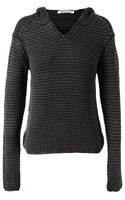 T By Alexander Wang Hooded Wool Sweater - Lyst