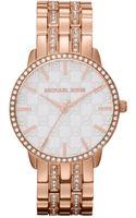 Michael Kors Womens Lady Nini Rose Gold Tone Stainless Steel Bracelet 35mm - Lyst