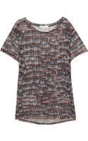 Etoile Isabel Marant Zot Printed Linen T-Shirt - Lyst