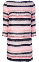 MSGM Striped Shift Dress - Lyst