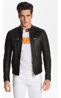 DSquared2 Leather Moto Jacket - Lyst