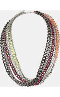 Topshop Multi Chain Necklace - Lyst
