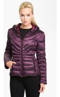 Bernardo Hooded Iridescent Down Jacket - Lyst