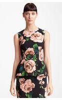 Dolce & Gabbana Stretch Cady Peplum Top - Lyst