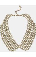 Topshop Beaded Peter Pan Collar Necklace - Lyst