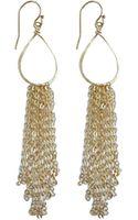 Julie Tuton Jewelry Teardrop Fringe Earrings - Lyst