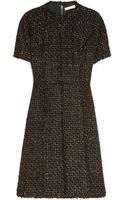 Michael Kors Metallic Frayed Tweed Dress - Lyst