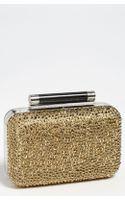 Diane Von Furstenberg Tonda Small Crystal Leather Clutch - Lyst