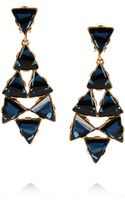Oscar de la Renta 24karat Gold Plated Swarovski Crystal Clip Earrings - Lyst