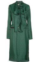 Marni Printed Silktwill Dress - Lyst