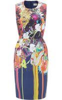 Preen By Thorton Bregazzi Paint Splash Bloom Dress - Lyst