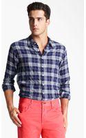 Rag & Bone Plaid Herringbone Woven Shirt - Lyst
