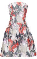 Z Spoke by Zac Posen Printed Taffeta Strapless Dress - Lyst