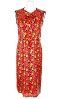 Marc Jacobs Long Sheath Style Sleeveless Dress Splashed with All Over Sequinned Floral Print - Lyst