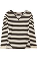 Marc By Marc Jacobs Ben Striped Cottonblend Terry Sweatshirt - Lyst