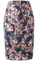 Erdem Frida Floral Printed Stretch Cotton Pencil Skirt - Lyst