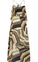 Thakoon Addition Printed Silk Maxi Dress - Lyst