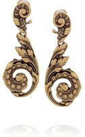 Oscar de la Renta 24karat Goldplated Clip Earrings - Lyst