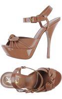 Yves Saint Laurent Rive Gauche Platform Sandals - Lyst