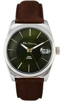 Ben Sherman Black Dial Leather Strap Watch - Lyst