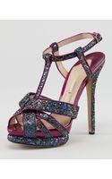 Nicholas Kirkwood Glittered Tstrap Platform Sandal - Lyst