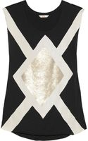 Sass & Bide The Big Go Sequinembellished Cottonjersey Tank - Lyst