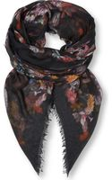 Alexander McQueen God Save Mcqueen Modal and Cashmereblend Scarf - Lyst