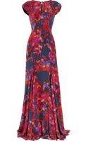 Erdem Lucietta Floralprint Silk Crepe De Chine Gown - Lyst