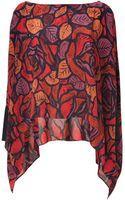 Rachel Zoe Scarlet Red Multi Sabrina Silk Top - Lyst
