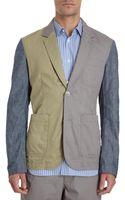 Comme Des Garçons Chambray Sleeve Sport Jacket - Lyst
