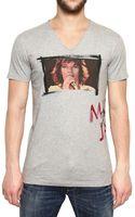 Dolce & Gabbana Mick Jagger Print Cotton Jersey T-shirt - Lyst