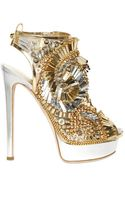 DSquared2 150mm Laminated Leather Beaded Sandals - Lyst