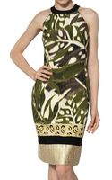 Giambattista Valli Lurex Brocade On Silk Shantung Dress - Lyst