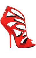 Giuseppe Zanotti 130mm Suede Cage Sandals - Lyst