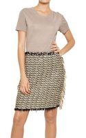 Lanvin Cotton Tweed Linen Knit Dress - Lyst