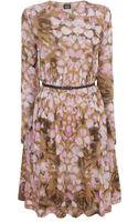 McQ by Alexander McQueen Rose Petal Draped Aline Jersey Dress - Lyst