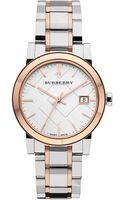 Burberry Medium Check Stamped Bracelet Watch - Lyst