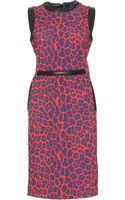 Christopher Kane Leopard Print Belted Dress - Lyst