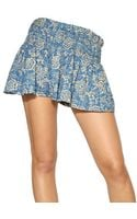 Etoile Isabel Marant Reversible Printed Cotton Voile Shorts - Lyst